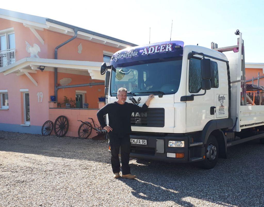 Frank Adler, selbständiger Gerüstbauer aus Bahlingen